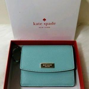Kate Spade Seafoam Cardholder Keychain Wallet